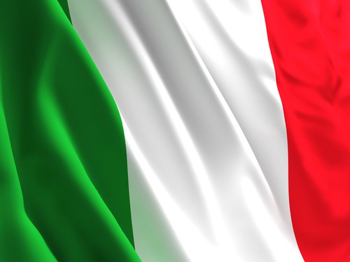 fine 3d image of waved italian flag background