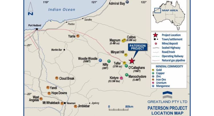 GGP Paterson map 750x406 - Greatland Gold PLC (LON:GGP) Further Outstanding Drill Results at Havieron