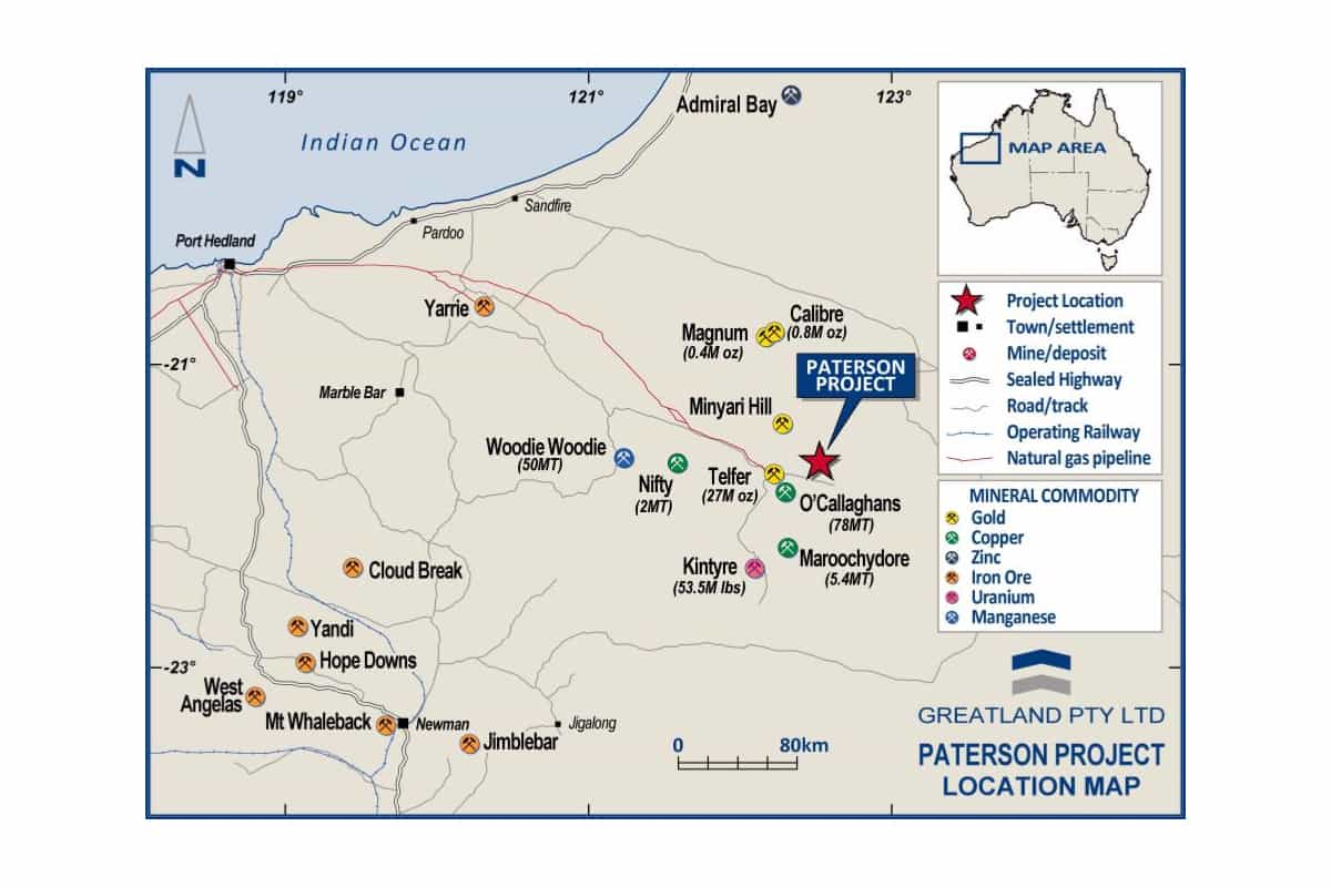 GGP Paterson map - Greatland Gold PLC (LON:GGP) Further Outstanding Drill Results at Havieron