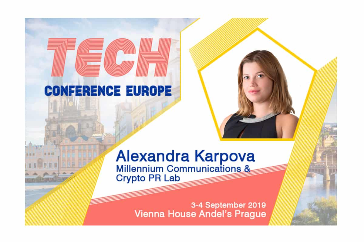 stencil 2 6 - Alexandra Karpova (Co-Founder &  CEO at Millennium Communications) at TCE2019 Prague