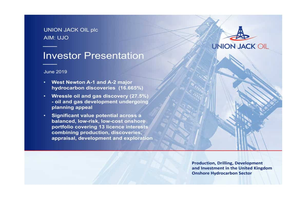 stencil 25 - Union Jack Oil PLC (LON:UJO) West Newton Update and Investor Presentation