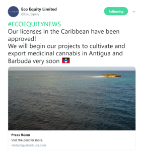 Image 2019 11 20 at 11.02.45 AM 286x300 - UK-based Eco Equity approved for medicinal cannabis license in Antigua and Barbuda