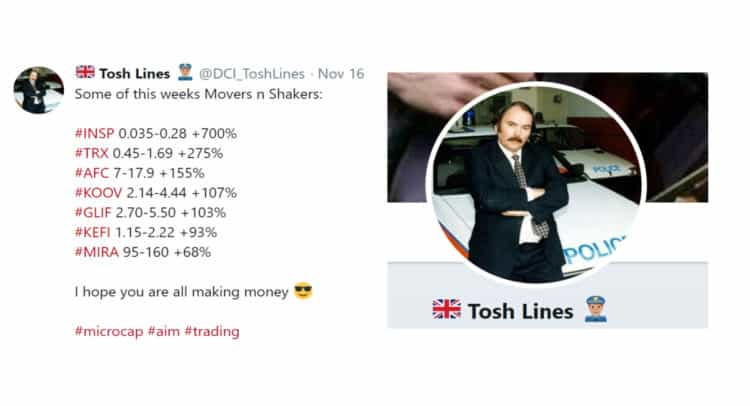 TOSH 750x406 - Micro-cap Movers and Shakers From Tosh Lines