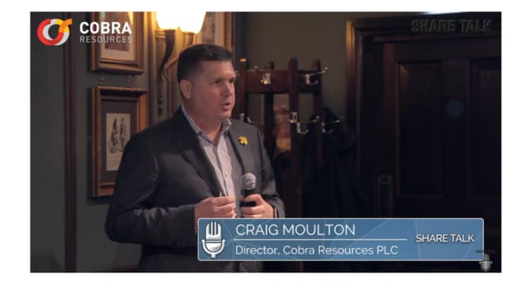 cobr 750x406 - Craig Moulton, Director of Cobra Resources Plc (LON:COBR) Company overview