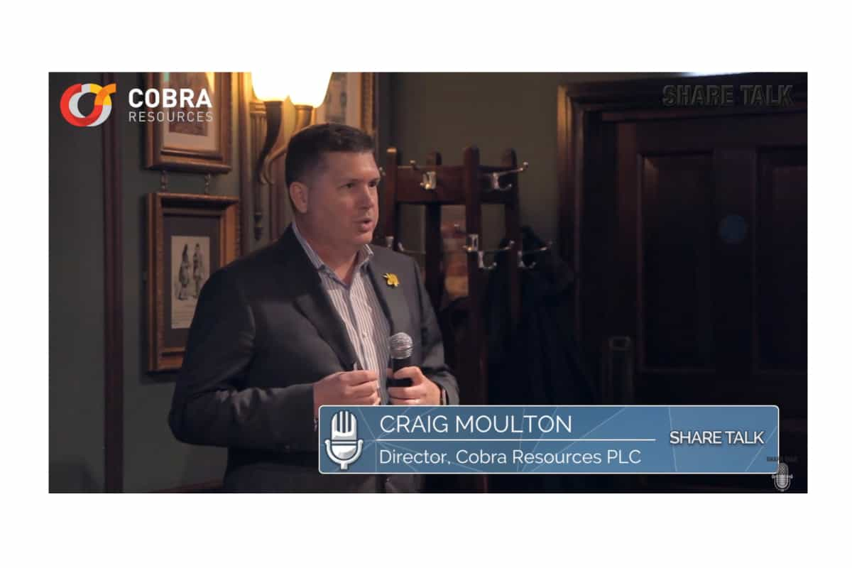 cobr - Craig Moulton, Director of Cobra Resources Plc (LON:COBR) Company overview