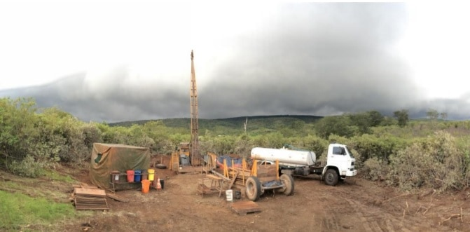 Jangada Mines equipment on site - Jangada Mines PLC (JAN.L) Drilling Results from Pitombeiras North Target