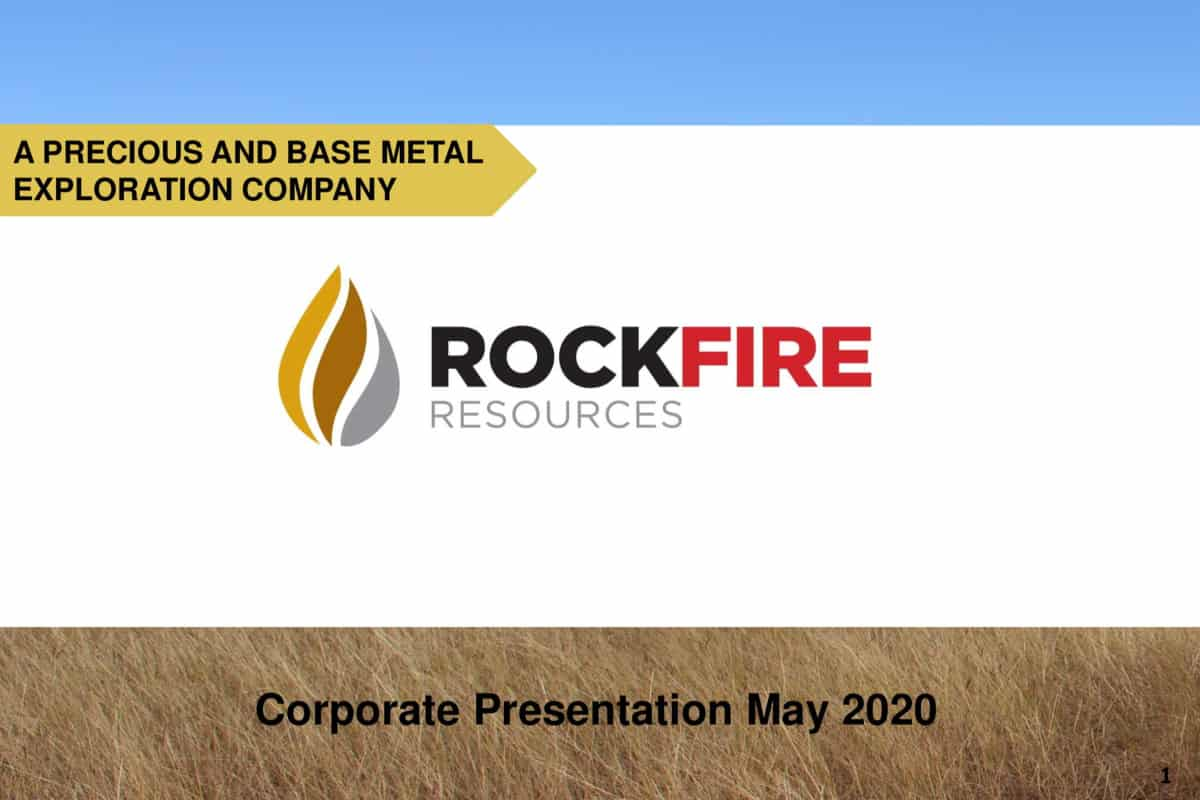 ROCK - Rockfire Resources (ROCK.L) Updated Corporate Presentation