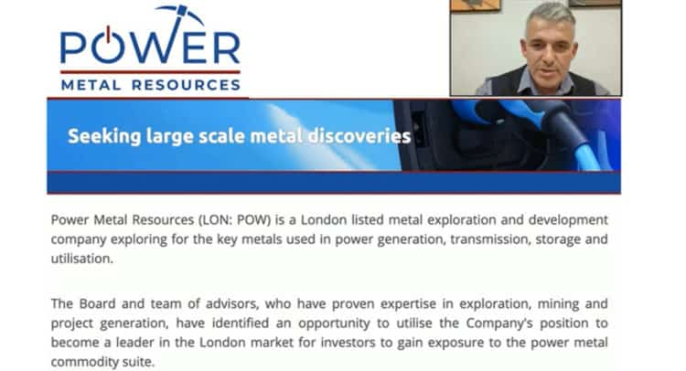 pow now 750x406 - An Investor Presentation and Q&A Session with Power Metal Resources Plc (POW.L)