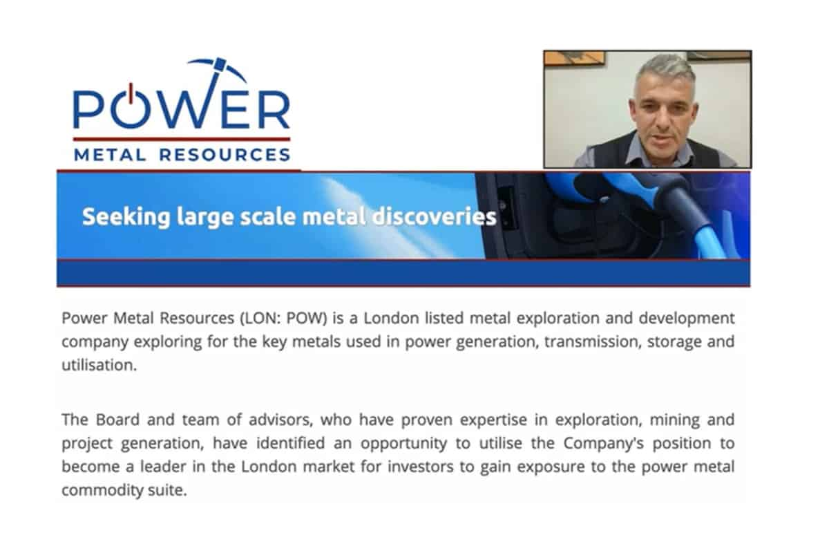pow now - An Investor Presentation and Q&A Session with Power Metal Resources Plc (POW.L)