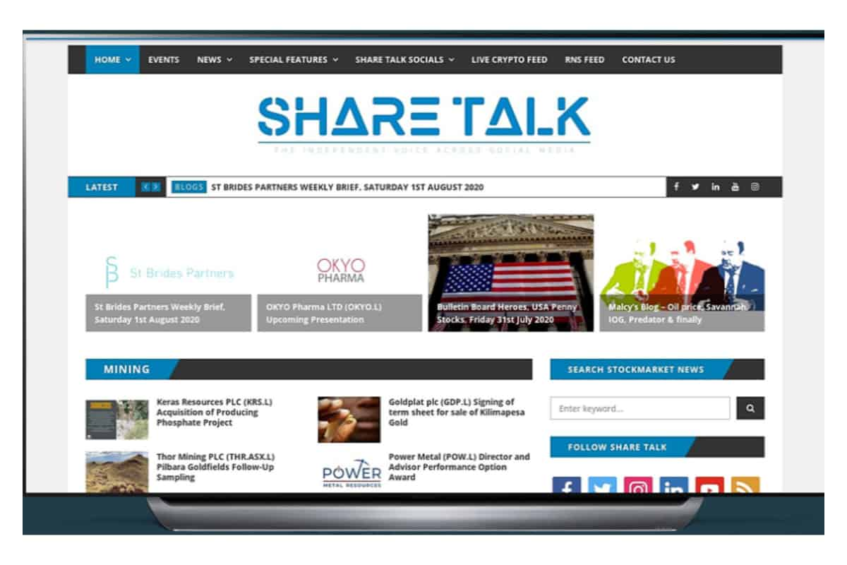 st - Share Talk Weekly Stock Market News, 2nd August 2020